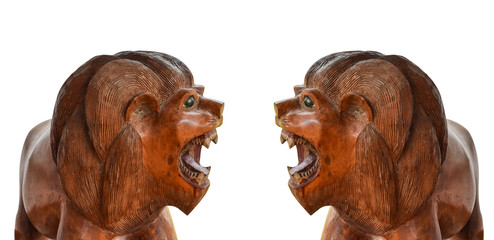 Two Wooden Tigers