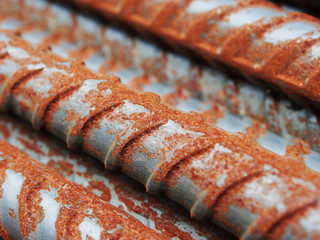 Rust steel rods or bars for construction