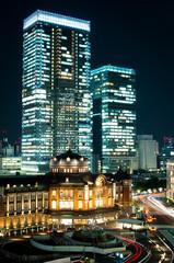 東京駅とグラントウキョウサウスタワー