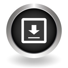Download icon - Vector. Black Button sign symbol for website. Ve