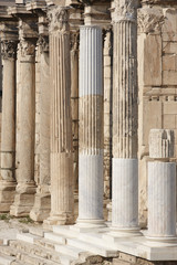 Ionic columns at Hadrians library in Athens. Greece