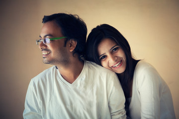 Happy Moment of  New Indian Couple