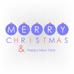 Christmas and happy new year background with decoration