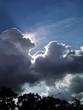 canvas print picture - Sonne hinter dunklen Wolken