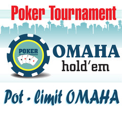 Pot limit Omaha holdem poker tournament