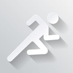 Paper Man Running Sign vector illustration on white background