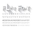 Flat font - 69943830