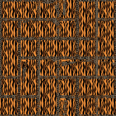 Seamless striped patterned frame