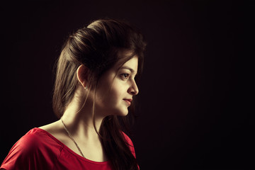 Portrait of indian young female beauty