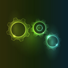 Glowing Cogs and Gears