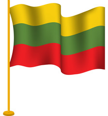 Tricolor Flag of Lithuania