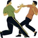 Self-defense sparring poster