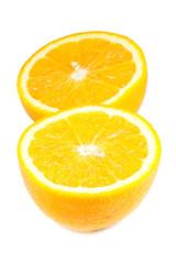 Slice of fresh ripe orange.