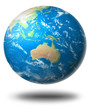 Earth with Australia in front