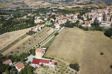 Foto aerea casa a Ostra Vetere (Ancona, Marche, Italia) 4