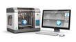 Leinwanddruck Bild - 3D printing technology