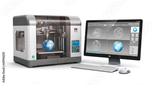 Leinwanddruck Bild 3D printing technology