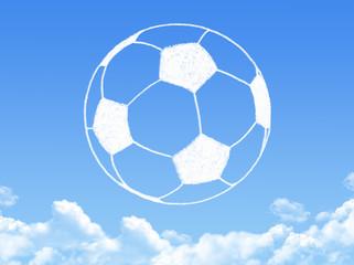 football cloud shape