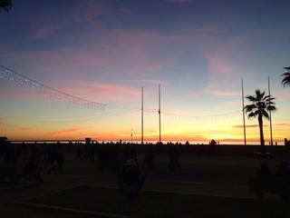 tramonto sul porto di Viareggio