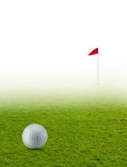 Golfball auf Golfplatz