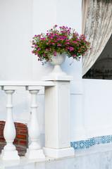 balustrade and ceramic vase