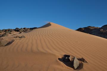 Sabbia e sassi in Namibia