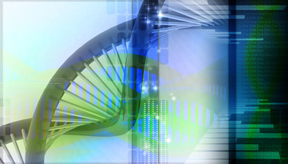 3d dna in color background