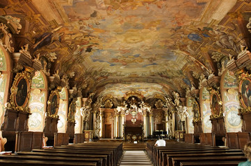 Aula Leopoldina at Wroclaw University. Poland.