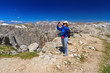 Dolomiti - hiker in Sella mountain