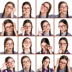 different expression girl