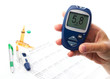 diabetic concept with glucometer