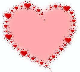 czerwone serce z serc