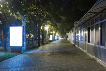 Sidewalk on the prospectus of Kirov (Pyatigorsk, Russia) at 5 o'