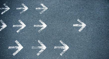 White arrows b