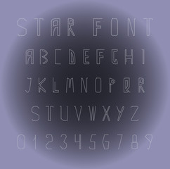 Original fonts and numbers from stars