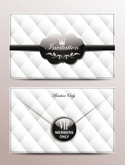 Vip black and white envelope