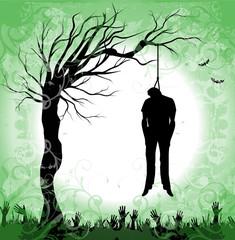 impiccato nella notte di halloween