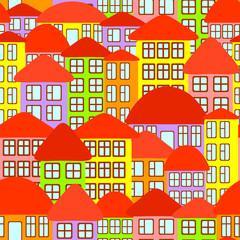 Seamless city background.