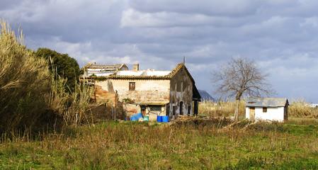Casa abandonada en el Delta del Llobregat, barcelona