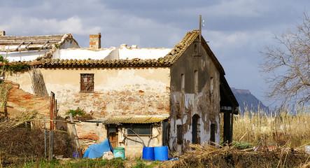 Casa rural abandonada en el Delta del Llobregat, Barcelona