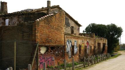 Casa abandona en el Delta del Llobregat, barcelona