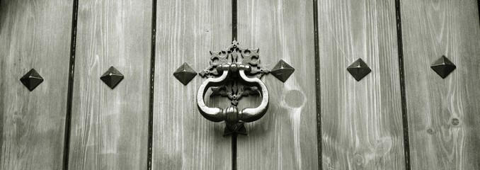 antique door knocker panorama