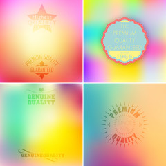 Beautiful label set on gradient backgrounds.