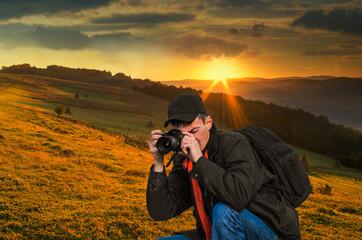 Man nature photographer.
