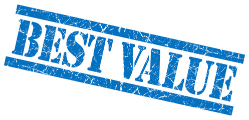 best value blue square grungy isolated rubber stamp