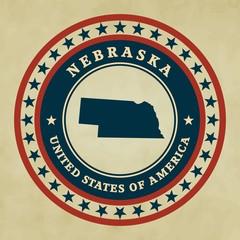 Vintage label Nebraska