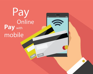 Flat design of mobile payment technology
