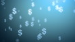 money rain background, dollars. 3d animation, seamless loop