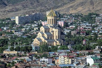 Holy Trinity Cathedral in Tbilisi, Georgia