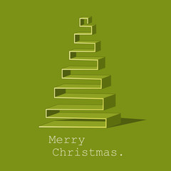 Modern abstract Christmas tree vector background